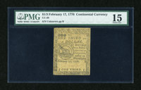 Continental Currency February 17, 1776 $1/3 PMG Choice Fine 15