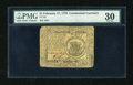 Colonial Notes:Continental Congress Issues, Continental Currency February 17, 1776 $1 PMG Very Fine 30....