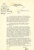 Autographs:Celebrities, Typed Letter Signed by James Cagney. One page, 4to, on hisVerney Farm letterhead, Stanfordville, NY, September 10,1979...