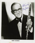 "Entertainment Collectibles:Music, Photograph Signed by Benny Goodman. Black and white glossy, 8 x10"", n.p., n.d. ..."