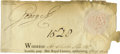 Autographs:Non-American, Partly Printed Document Signed by King George III, circa 1790. Onepage, oblong 8vo, n.p., n.d. Being the top portion of a p...