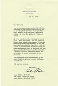Autographs:U.S. Presidents, Typed Letter Signed by Richard Nixon as President. One page, small4to, on White House letterhead, Washington DC, May 16, 19...
