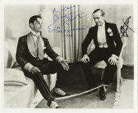 Promotional Gay Divorcee Photograph Signed by Fred Astaire and Erik Rhodes. Glossy b