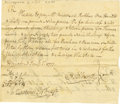 """Military & Patriotic:Revolutionary War, Document Signed by Oliver Ellsworth as Commissioner of the Pay Table. One page, 7 x 6.25"""", Hartford, CT, January 1777. ..."""