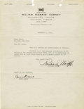 Entertainment Collectibles:Music, Typed Contractual Letter Signed by Count Basie. One page, 4to, on William Morris Agency letterhead, New York City, November ...