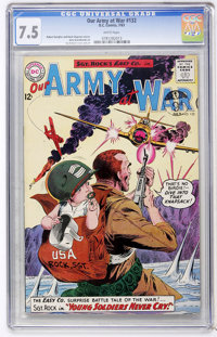 Our Army at War #132 (DC, 1963) CGC VF- 7.5 White pages