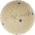 Golf Collectibles:Autographs, 1931 Bobby Jones Signed Golf Ball. It is stories like this one thatmake us love the collecting hobby. The year was 1931, a...