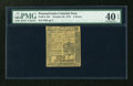 Colonial Notes:Pennsylvania, Pennsylvania October 25, 1775 4d PMG Extremely Fine 40 EPQ....