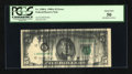 Error Notes:Ink Smears, Fr. 1980-L $5 1988A Federal Reserve Note. PCGS About New 50.. ...