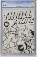 Golden Age (1938-1955):Superhero, Thrill Comics #1 Ashcan (Fawcett, 1940) CGC VF/NM 9.0 White pages....