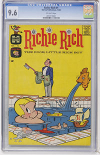 Richie Rich #1 (Harvey, 1960) CGC NM+ 9.6 Off-white pages