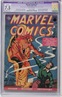Marvel Comics #1 (Timely, 1939) CGC Apparent VF- 7.5 Moderate (P) Off-white pages