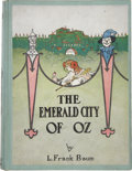 Books:Children's Books, L. Frank Baum. The Emerald City of Oz. Illustrated by JohnR. Neill. Chicago: The Reilly & Britton Co. Publisher...