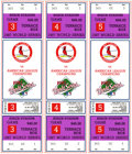 Baseball Collectibles:Tickets, 1987 World Series Full Tickets Lot of 3. Mint block of full ticketsfrom Games 3,4, and 5 from the 1987 World Series played...