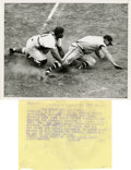Baseball Collectibles:Photos, 1948 Roy Campanella Photograph Type 1. 1927 Type 1 photo depicting Hall of Famer Roy Campanella tagging out Jeff Heath at t...