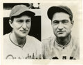 Baseball Collectibles:Photos, 1938 Waner Brothers Photograph Type 1. Because of the hitting prowess of the Waner brother, Lloyd and Paul, many picked the...