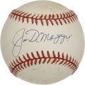 Autographs:Baseballs, Joe DiMaggio Single Signed Baseball. For a man named baseball'sgreatest living player at one point in time, it's not hard ...