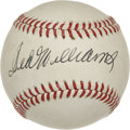 Autographs:Baseballs, Ted Williams Single Signed Baseball. For nearly twenty years, theBoston Red Sox left fielder Ted Williams dominated opposi...