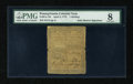 Colonial Notes:Pennsylvania, Pennsylvania April 3, 1772 1s PMG Very Good 8....