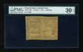 Colonial Notes:Pennsylvania, Pennsylvania October 1, 1773 2s PMG Very Fine 30 EPQ....