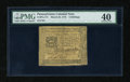 Colonial Notes:Pennsylvania, Pennsylvania March 25, 1775 4s PMG Extremely Fine 40....