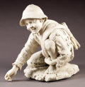 Marble:European, PROPERTY FROM THE JOHN L. PELLEGRINI COLLECTION. ENRICO ASTORRI(Italian, 1858-1919) . A Young Boy Shooting ...