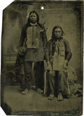 Photography:Tintypes, Sixth Plate Tintype of Two Indians, ca 1860-1870. ...
