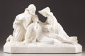Marble:European, PROPERTY FROM THE JOHN L. PELLEGRINI COLLECTION. JULES GELLE(French). Wounded Soldier, 19th Century. Marble. ...