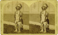 "Western Expansion:Indian Artifacts, Large Format Stereoview of Native American ""Red Cloud"", 1876...."