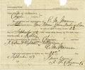 Miscellaneous:Ephemera, Document Signed of a Court Case, State of Nebraska vs. Joel Collins & Eight Others (Gang) For 1877....