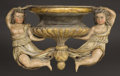 Decorative Arts, Continental:Other , A PAIR OF ITALIAN POLYCHROME WOOD FIGURAL BRACKETS. Venetian, 19thCentury. 27 inches (68.6 cm) long, each. ... (Total: 2 Items)