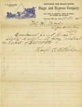 Western Expansion:Cowboy, Gunnison & Grand River Stage and Express Letterhead, 1885....