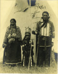 Western Expansion:Indian Artifacts, Original James Traver large Photograph Cheyenne Chief ca 1911....