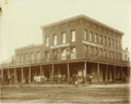 Western Expansion:Cowboy, Imperial Size Photograph Briggs Hotel/ Stage Stop, Carson, Nevada,ca. 1890s. ...
