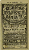 "Western Expansion:Goldrush, Atchison, Topeka and Santa Fe Railroad ""Time Table"" 1876 -..."