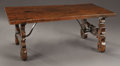 Furniture : Continental, AN ITALIAN BAROQUE WALNUT TABLE. Early 18th Century with laterelements. 17-1/2 x 43 x 25 inches (44.5 x 109.2 x 63.5 cm). ...