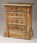 Furniture : Continental, AN ITALIAN BAROQUE WALNUT SIDE CABINET. Late 17th-Early 18thCentury. 30-1/2 x 25 x 12 inches (77.5 x 63.5 x 30.5 cm). ...