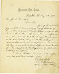 Western Expansion:Indian Artifacts, Autograph Letter Signed on 10th Cavalry Letterhead, Fort Sill,Indian Territory, 1873....