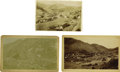"Photography:Cabinet Photos, Lot of Three Photographs ""Colorado Mining Scenes"" ca 1890s....(Total: 3 Items)"