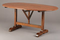 Furniture : Continental, AN ITALIAN BAROQUE-STYLE WALNUT TILT-TOP WINE TASTING TABLE. 20thCentury. 64 x 47 inches (162.6 x 119.4 cm) . ...
