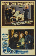 "Movie Posters:War, Edge of Darkness Lot (Warner Brothers, 1943). Lobby Cards (2) (11""X 14""). War.... (Total: 2 Items)"
