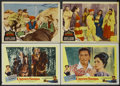 "Movie Posters:Adventure, Crossed Swords Lot (United Artists, 1954). Lobby Cards (4) (11"" X14""). Adventure.... (Total: 4 Items)"