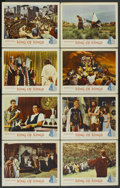 "Movie Posters:Historical Drama, King of Kings (MGM, 1961). Lobby Card Set of 8 (11"" X 14"").Biblical Drama.... (Total: 8 Items)"