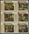"Movie Posters:Adventure, Samson and Delilah (Paramount, R-1959). Lobby Cards (6) (11"" X14""). Adventure.... (Total: 6 Items)"