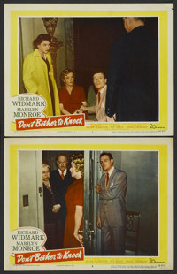 "Don't Bother to Knock (20th Century Fox, 1952). Lobby Cards (2) (11"" X 14""). Thriller.... (Total: 2 Items)"