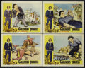 "Movie Posters:Animated, Gulliver's Travels (NTA, R-1957). Lobby Card Set of 4 (11"" X 14""). Animated.... (Total: 4 Items)"