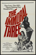 """Movie Posters:Adult, The Immoral Three (Juri Productions, 1975). One Sheet (27"""" X 41""""). Adult...."""