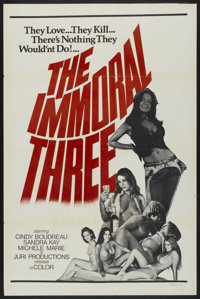 "The Immoral Three (Juri Productions, 1975). One Sheet (27"" X 41""). Adult"