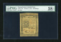 Colonial Notes:Pennsylvania, Pennsylvania October 1, 1773 50s PMG Choice About Unc 58 EPQ....