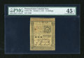 Colonial Notes:Pennsylvania, Pennsylvania October 1, 1773 15s PMG Choice Extremely Fine 45EPQ....
